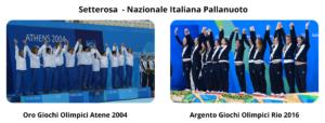 Nazionale Italiana Pallanuoto Oro e Argento olimpico